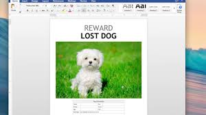 Lost Dog Flyer Template Word How Make A Lost Dog Flyer Using Templates Found In Word YouTube 12