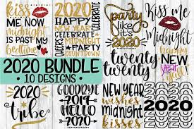 Create cool crafts using our editable svg cutting files & png images! Free Svgs Download 2020 New Year S Eve Bundle 10 Designs Svg Png Eps Dxf Free Design Resources