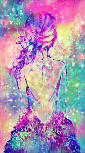 Galaxy Girl Wallpaper