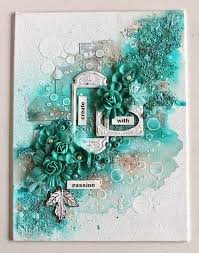 mixed media canvas. Modren Media Ingrid Gooyer  13arts March Challenge 28 Moodboard With A Twist Mixed  Media With Canvas