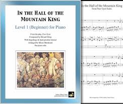 Download includes version without note names. In The Hall Of The Mountain King Beginner S Piano Solo Sheet