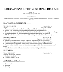 Student tutoring resume s tutor sample resume sle resume english