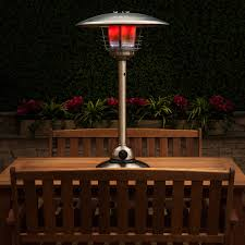 table heater. stainless steel table-top gas patio heater with adjustable heat control table