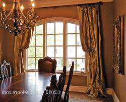 lighting curtains. Dining Room Window Curtains Sheer Curtain Panels Light Brown Varnish Wood Flooring Round Orange Pendant Lighting Natural Glass Flower Vase : Home