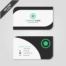 Business Card In Modern Style Vector Free Download