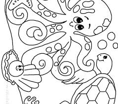 Ocean Coloring Sheets For Preschoolers Page G Printable Children