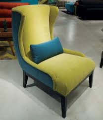 peacock blue furniture. Younger Furniture\u0027s Cash Chair Features Two Key Color Influences \u2014 Deep Peacock Blue And Chartreuse Furniture U