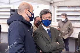 Nicola Zingaretti Andrea Orlando during funeral Emanuele Editorial Stock  Photo - Stock Image