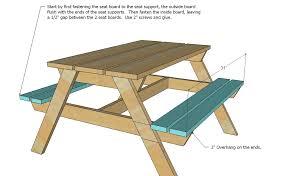 Ana White  Preschool Picnic Table  DIY ProjectsHow To Make Picnic Bench