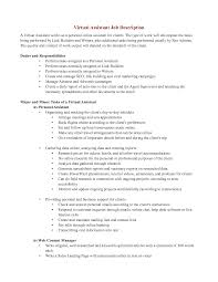 personal assistant description for resume