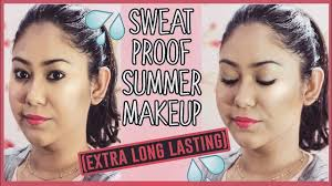 how to make any makeup sweatproof longlasting summer tips