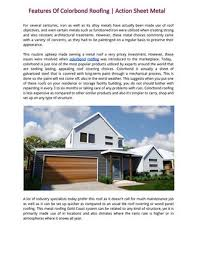 action sheet metal features of colorbond roofing action sheet metal by action sheet