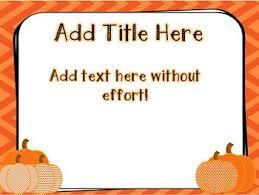 Fall Pumpkin Powerpoint Template Freebie By Mrsesol Tpt
