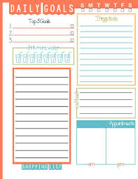 Daily Goals Template Daily Goals To Do List Printable Daily Goals Goal
