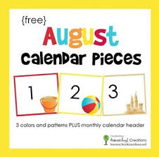 Free Printable Pocket Chart Cards August Pocket Chart Calendar Pieces Free Printable