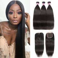 Straight Bundle Length Chart Unice Hair Icenu Series 5 5 With Baby Hair Straight Hair Lace Closure With 3 Bundles Straight Hair