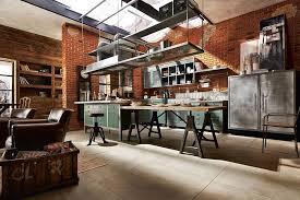 kitchen loft design ideas. skylight brings natural light into the custom luxury kitchen [design: marchi kitchens] loft design ideas
