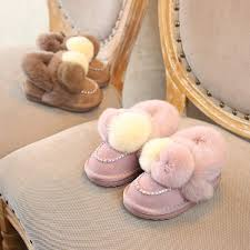 presyo ng 2018 new winter children boots natural fur girls snow boots princess girls leather boots kids winter shoes children boots sa pilipinas