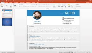 Resume In Powerpoint Free One Slide Resume Template For Powerpoint Free