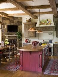 Red Country Kitchen Cabinets Marvelous Home Interior Kitchen Apartment Inspiring Design Combine