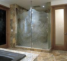 Glass Shower Doors  artistic custom doors by UltraGlas