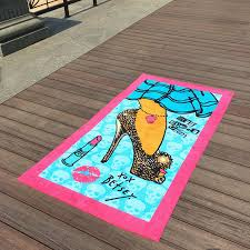 cool beach towels for girls. China Lavender Girl Patterned Beach Towels Beauty Lipsticks For Chair Covers Supplier Cool Girls