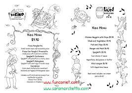 Online Menu Creator Funny Illustrations For Kids Menu Creator Sara Marchetto