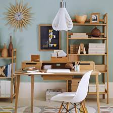 post small home office desk. 1950sinspired home office inspired by postwar simplicity and the beauty of natural post small desk