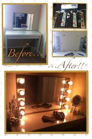 diy hollywood makeup vanity light mirror with remote to turn lights on off