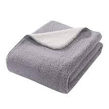 Fuzzy Gray Throw Blanket