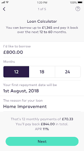 pay back loans calculator personal loans apply in app today starling bank