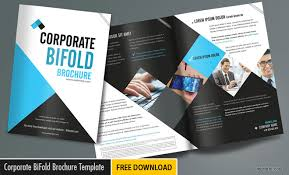 Foldable Brochure Template Free Corporate Bifold Brochure Templates Free Download Now On