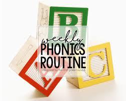 Weekly Phonics Routine Firstgraderoundup