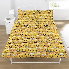 emoji design cotton blend double duvet bedding set