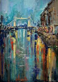 artfinder 39x27new abstract london 100x70cm la by monika luniak tower paintingsoriginal