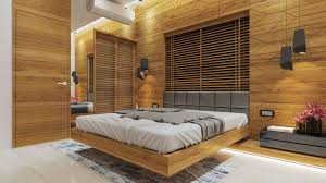 wooden bed back design. Wonderful Wooden Wall Hung Bed With Upholstered Back Rest And Wooden Paneling  Bed Back  Design On Wooden Design W