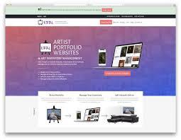 Art Portfolio Website Design 24 Best Website Builders For Artists 2019 Colorlib
