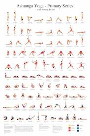 Yoga Pose Chart Poster Yoga Asanas Postures Poses Ashtanga Primary Series Poster Chart Wall Hanging Educational Decoration