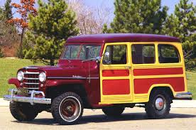 Cars 1955 Willys Jeep Utility Wagon With Cladding Maroon Fvl ...