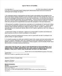 Sample Waiver Of Liability Form 40 Free Documents In Doc PDF Unique Liability Waiver Template Word