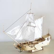 310mm wooden ship model diy fishing boat laser cut assembly model kits toys gift cod