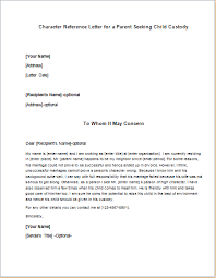 Character Reference Letter For A Parent Seeking Child