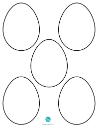 Egg Printable Coloring Pages Blank Template Bright Inspiration Free