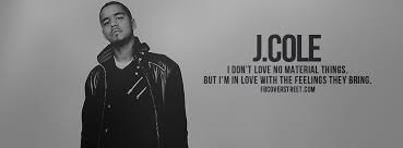 J Cole Lyric Quotes Interesting J Cole Material Things Facebook Cover FBCoverStreet