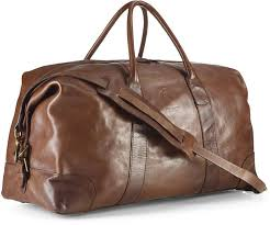 polo ralph lauren core leather duffle bag