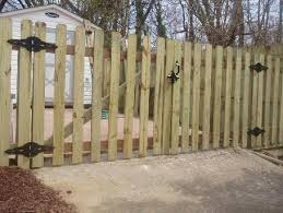 wood picket fence gate. 4\u2032 Dog Eared Picket Fences \u2013 Wide Space Wood Fence Gate A