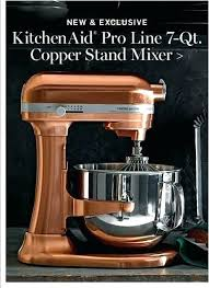 copper bowl for kitchenaid mixer pro line 7 qt stand liner c