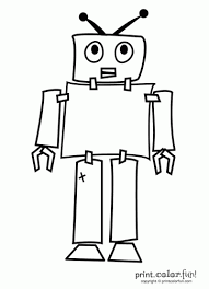 Small Picture Robot coloring page Print Color Fun