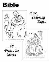Small Picture Bible coloring sheets and pictures