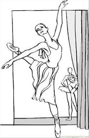 Small Picture Free Printable Ballerina Coloring Pages Perfect Coloring Free
